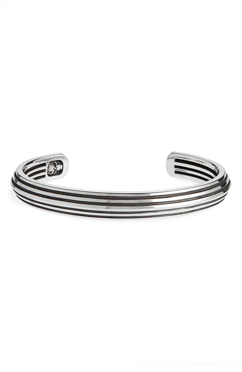ROOM101 Striped Blade Cuff Bracelet, Main, color, 040