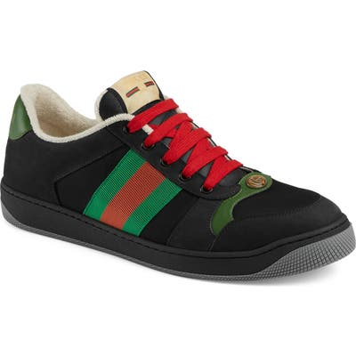 Gucci Screener Low Top Sneaker, Black