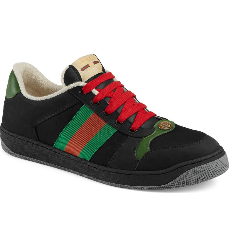GUCCI Screener Low Top Sneaker, Main, color, BLACK