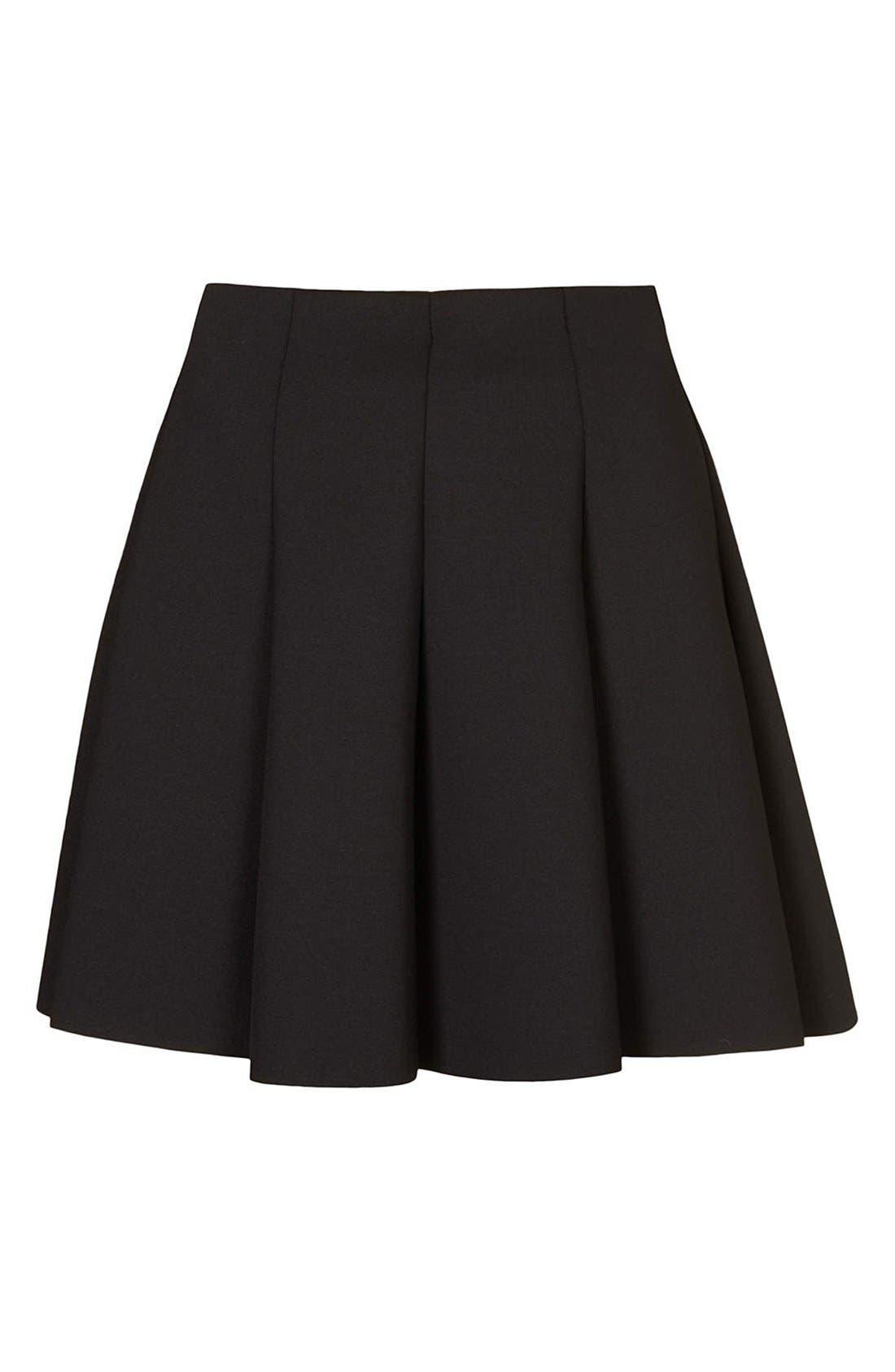 ,                             Pleated Scuba Skirt,                             Alternate thumbnail 2, color,                             001