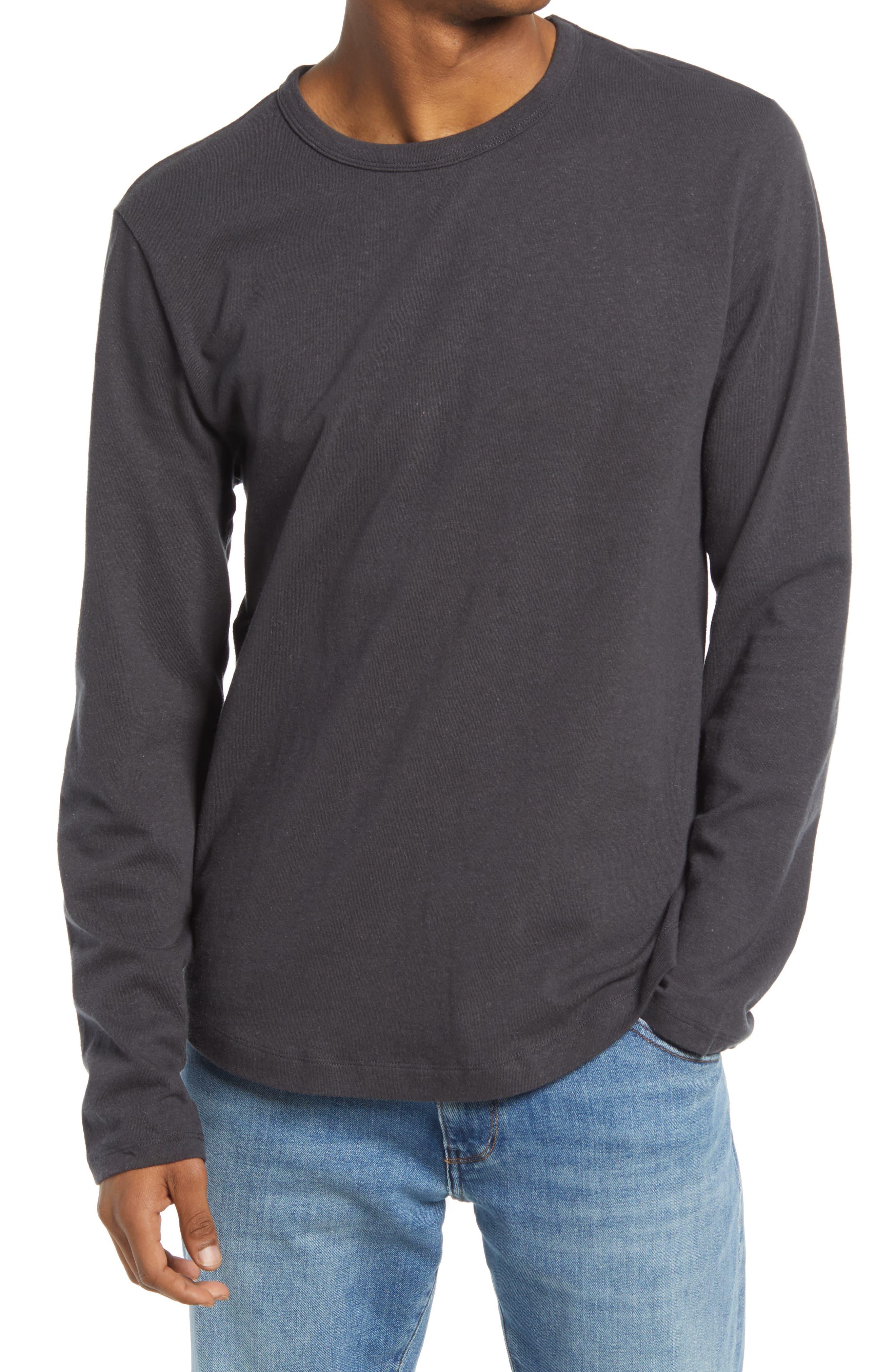 Long Sleeve Shirttail Cotton & Hemp Jersey T-Shirt