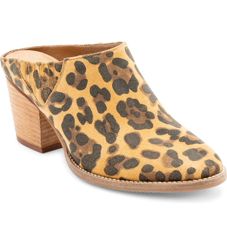 BLONDO Norwich Mule, Main, color, LEOPARD SUEDE
