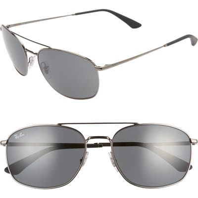 Ray-Ban 60mm Navigator Sunglasses - Gunmetal/ Dark Grey