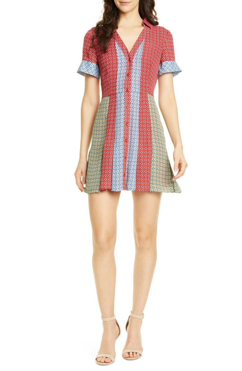 ALICE + OLIVIA Abelia Shirtdress, Main, color, 600