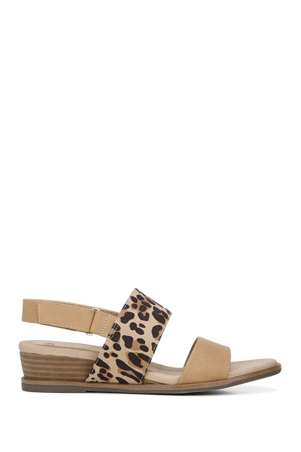 Freeform Leopard Print Wedge Sandal