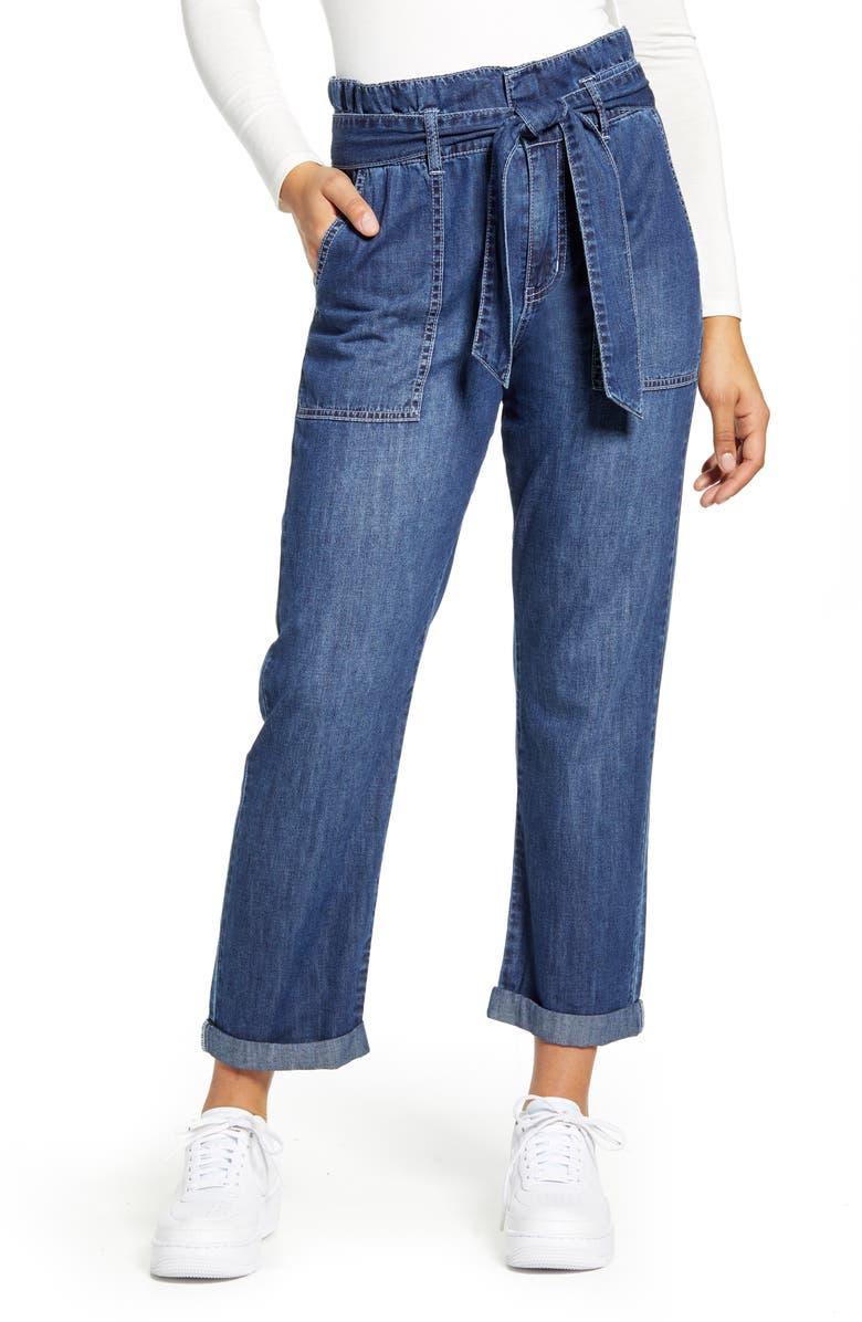 DICKIES Paperbag Waist Jeans, Main, color, 460
