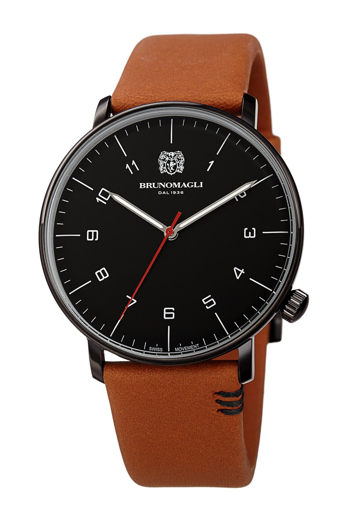 Image of Bruno Magli Men's Roma Moderna Leather Strap Watch, 43mm