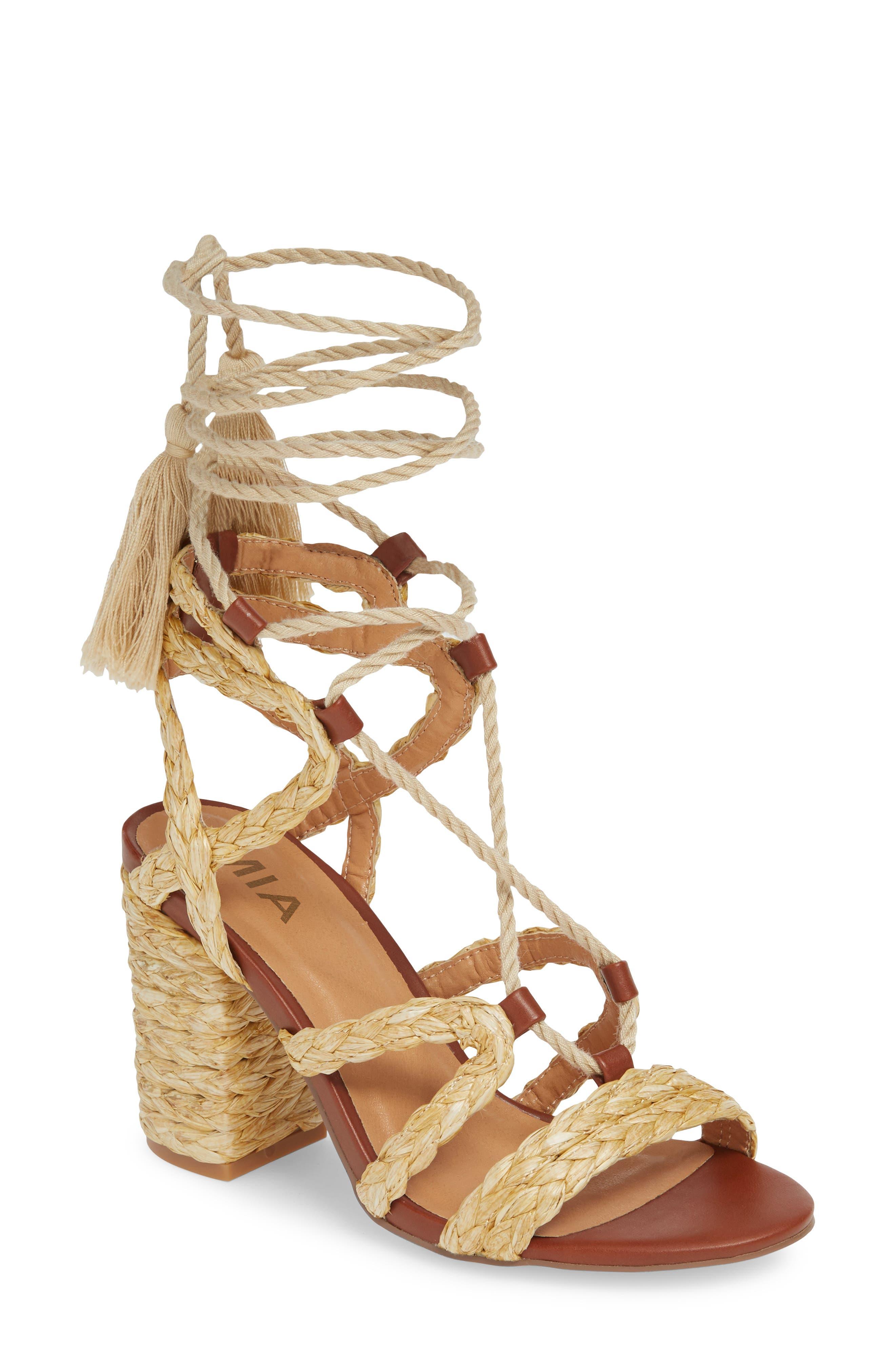 MIA Renita Raffia Wraparound Sandal (Women)