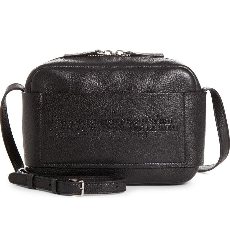 CALVIN KLEIN 205W39NYC Belle Leather Camera Bag, Main, color, 001