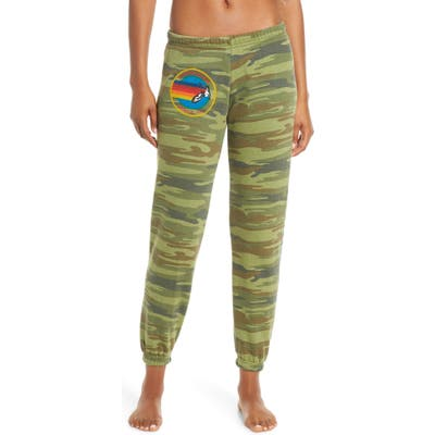 Aviator Nation Rainbow Logo Sweatpants, Green