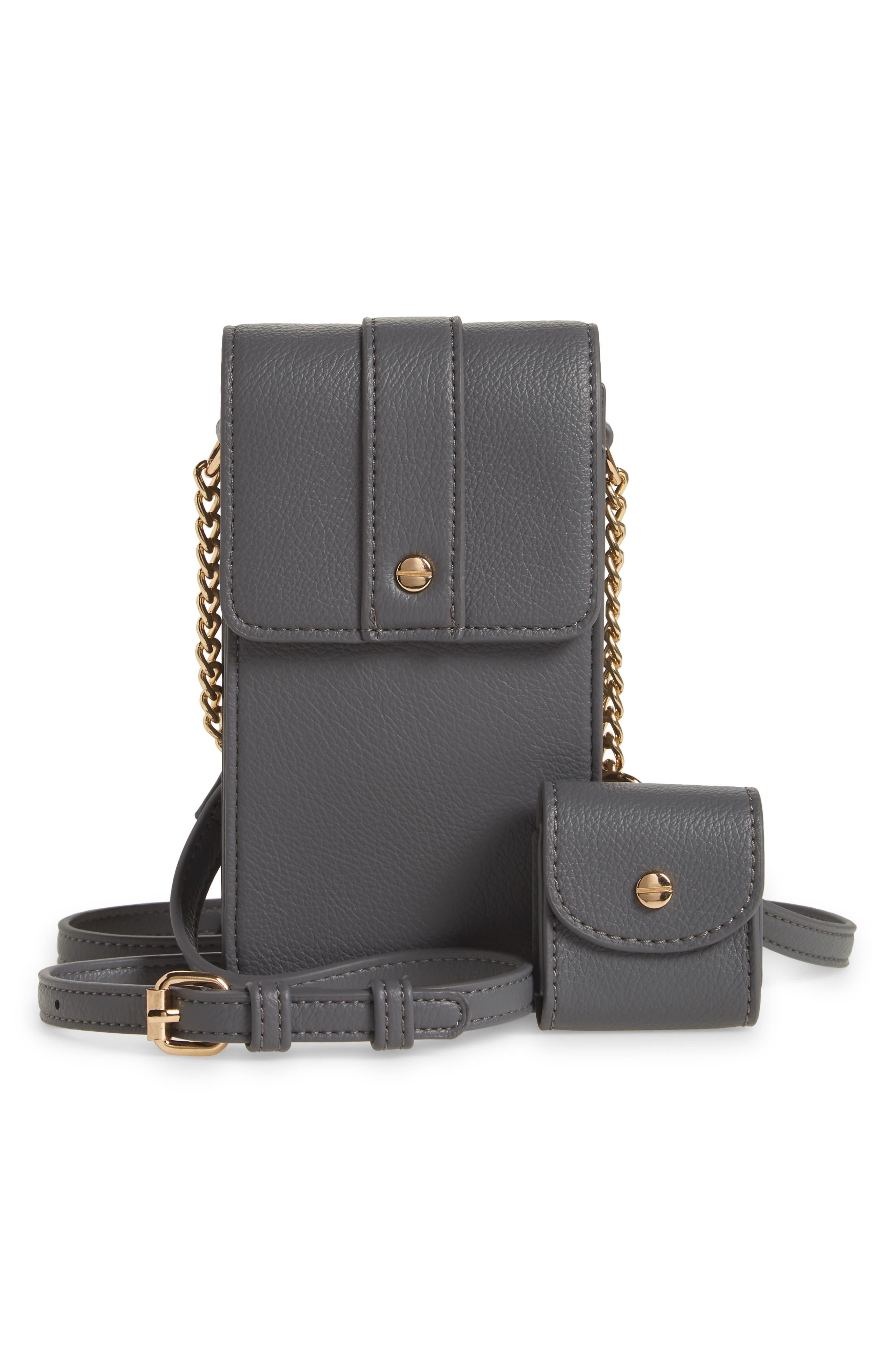 Mali + Lili Vegan Leather Phone Crossbody Bag