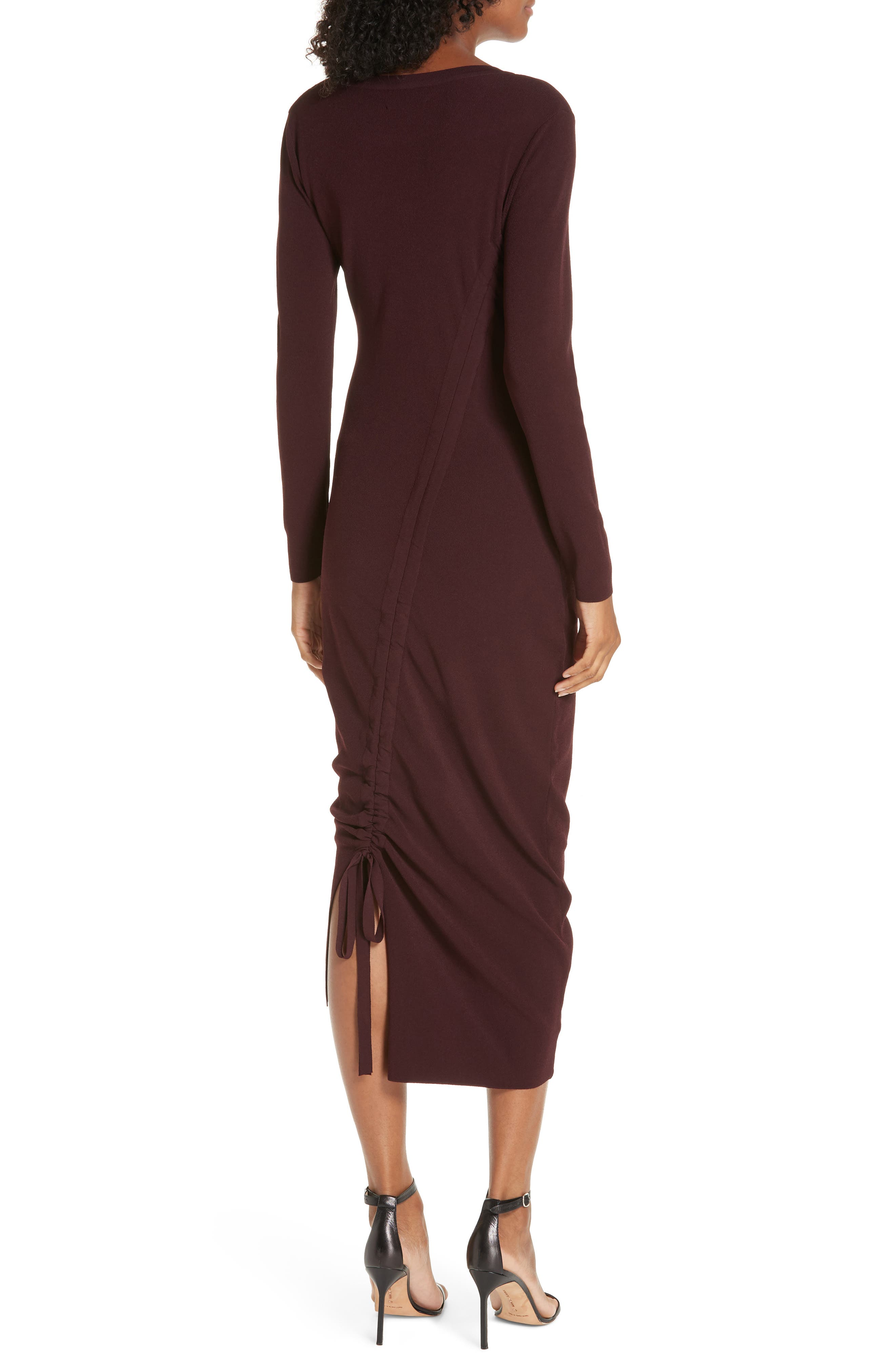 ,                             Diagonal Ruched Tunnel Dress,                             Alternate thumbnail 21, color,                             930