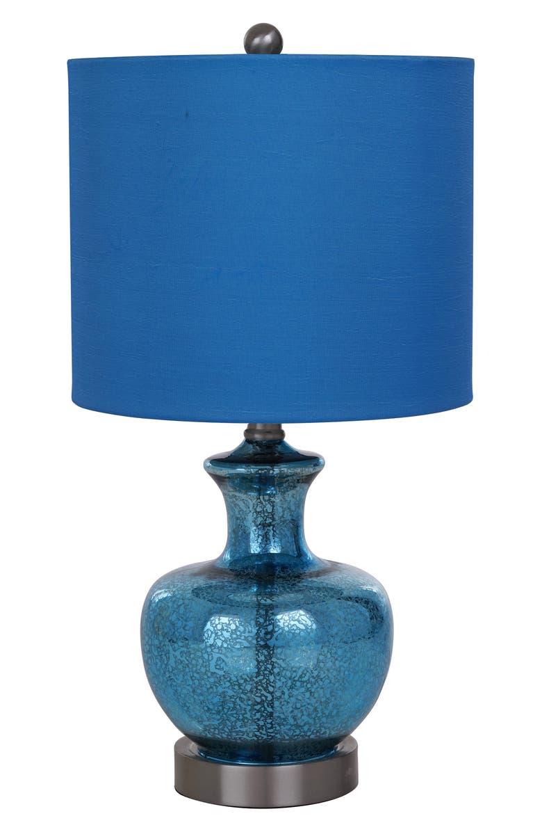 JALEXANDER LIGHTING Blue Glass Table Lamp, Main, color, 400