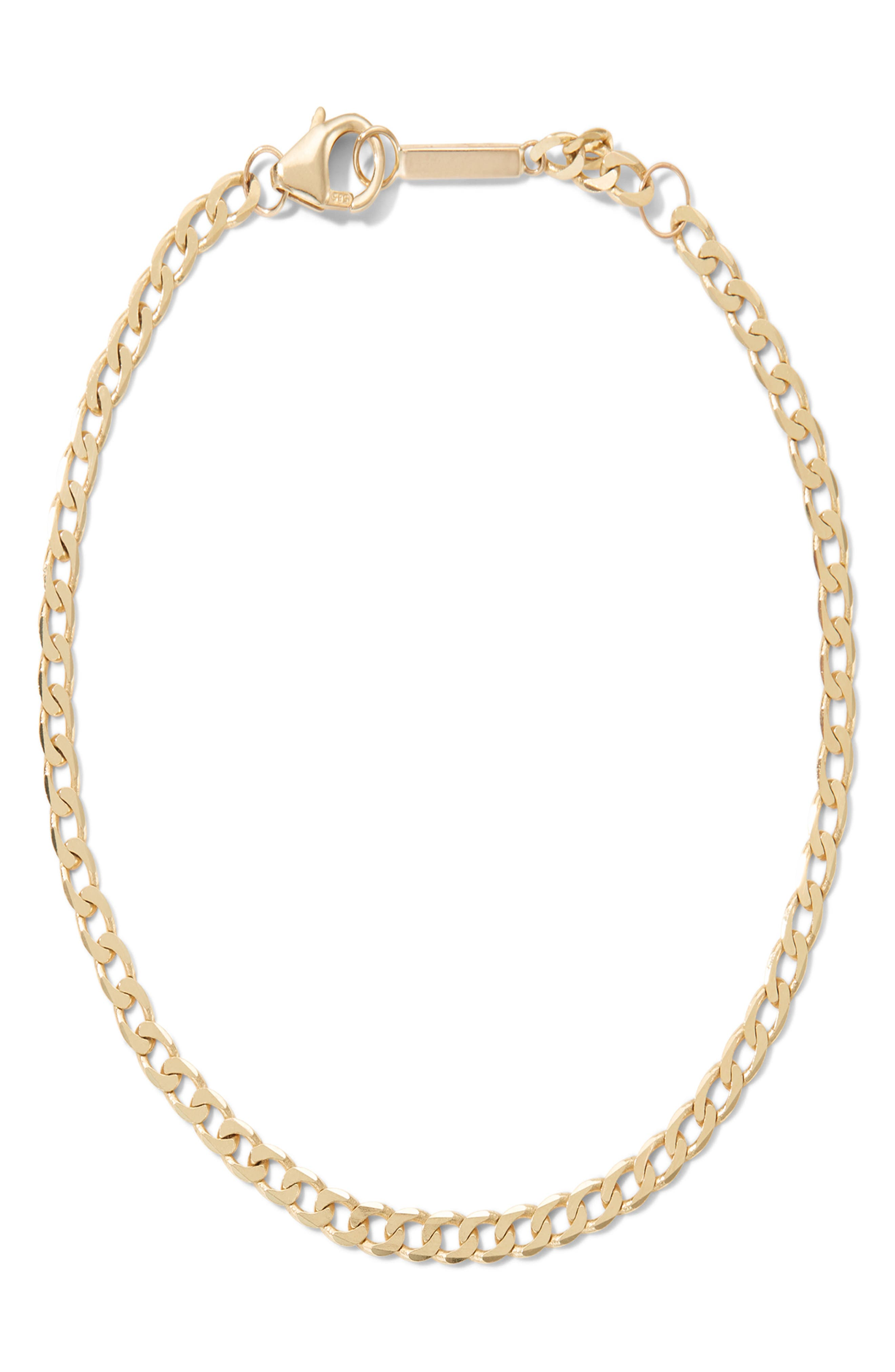 Nude Curb Chain Single Strand Necklace