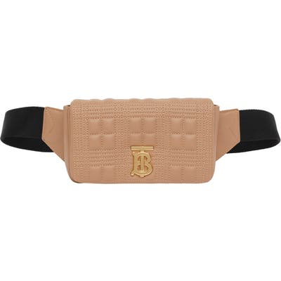 Burberry Lola Quilted Leather Belt Bag - Beige