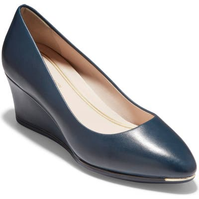 Cole Haan Grand Ambition Wedge Pump, Blue