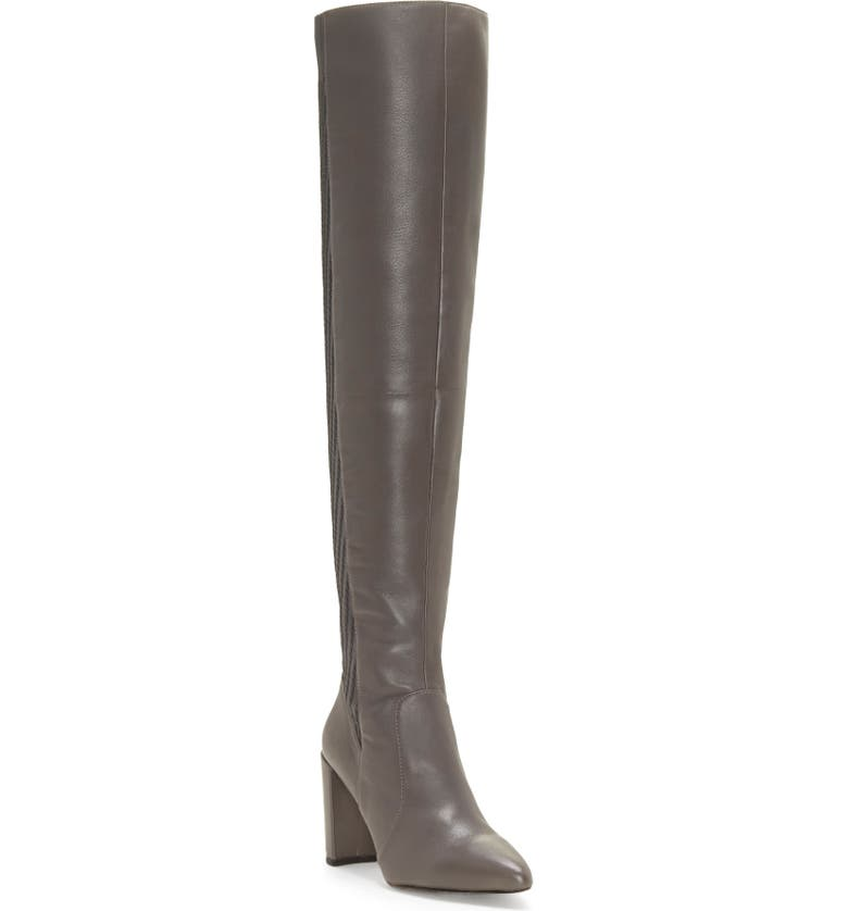 VINCE CAMUTO Majestie Over the Knee Boot, Main, color, THUNDER LEATHER