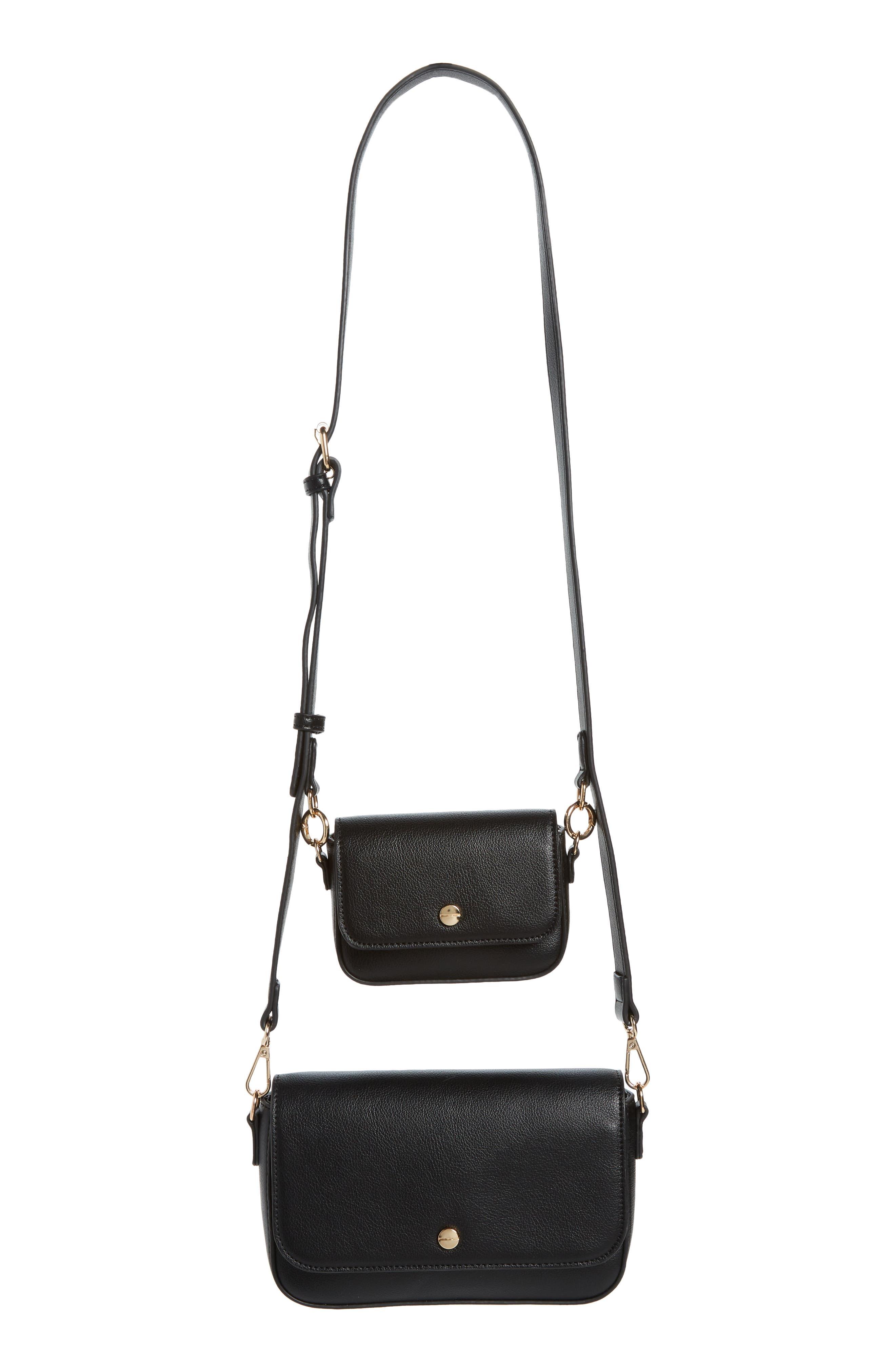 Mali + Lili 2-Piece Vegan Leather Crossbody Bag