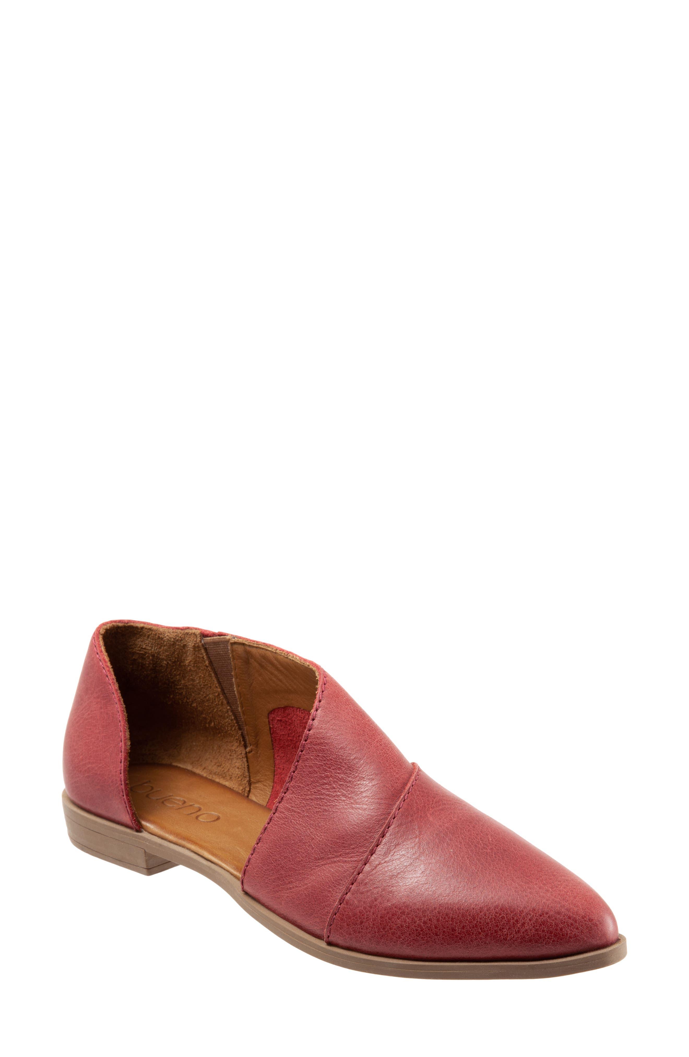 Blake Half D'Orsay Leather Flat