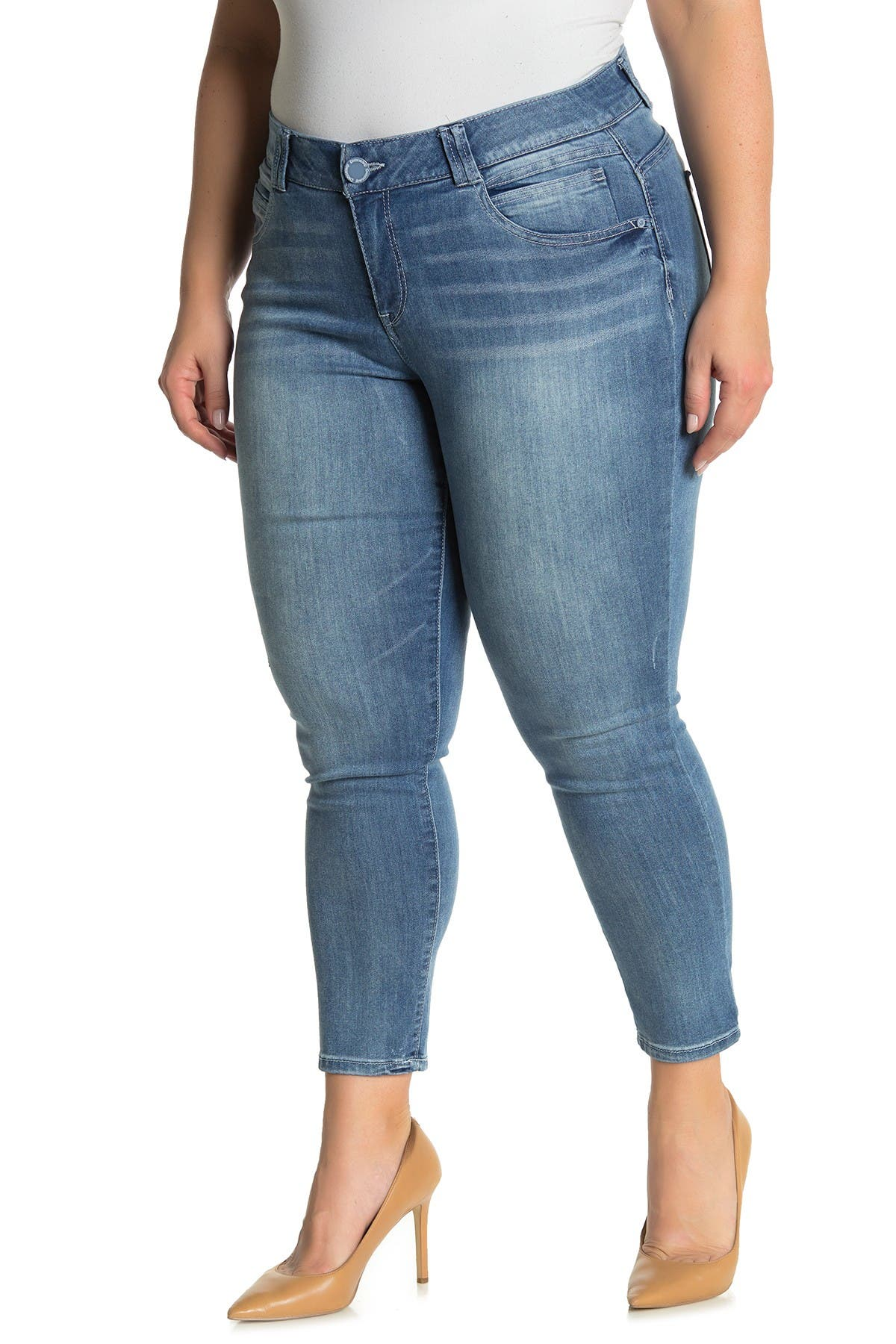 Image of Democracy AB Tech Luxe Touch Skinny Ankle Jeans