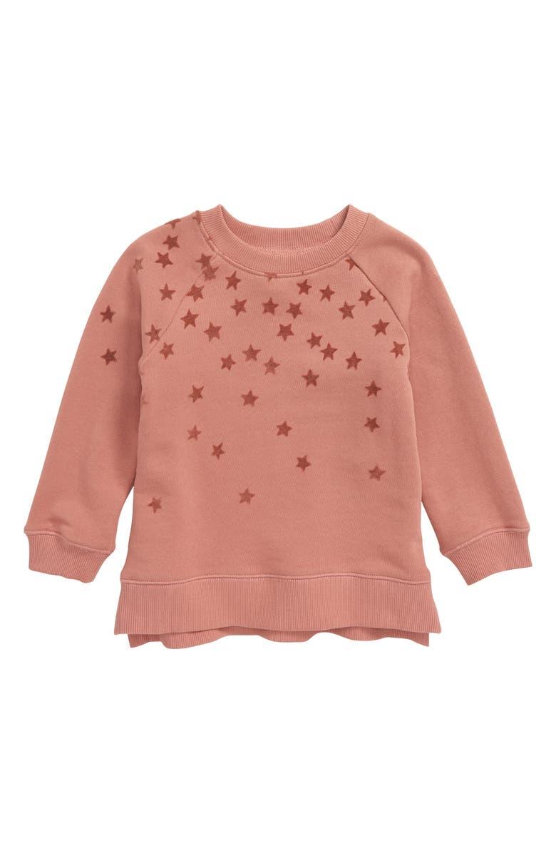 PEEK AREN'T YOU CURIOUS Stars Sweatshirt Tunic, Main, color, PINK