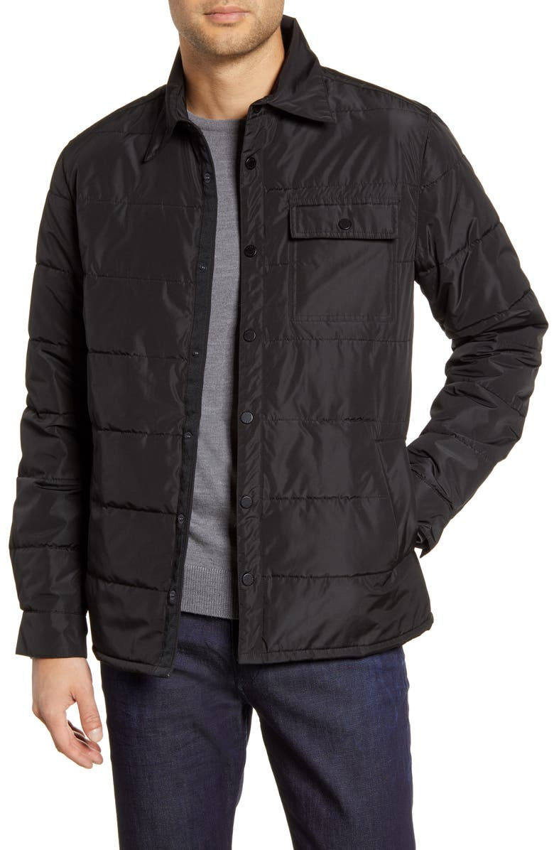 BARO The Quarry Water Repellent Quilted Jacket, Main, color, BLACK