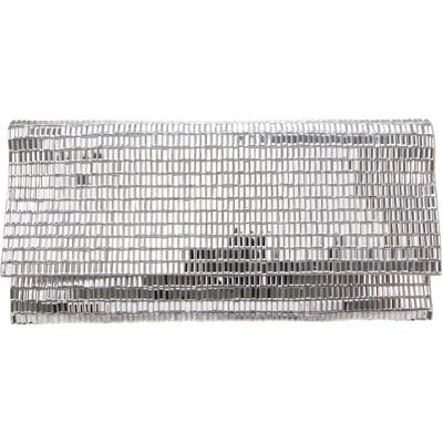 Nina Crystal Foldover Clutch - Metallic