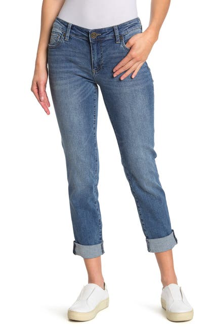 Image of KUT from the Kloth Katy Cuffed Crop Boyfriend Jeans