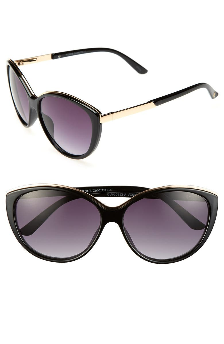 VINCE CAMUTO 58mm Cat Eye Sunglasses, Main, color, 001