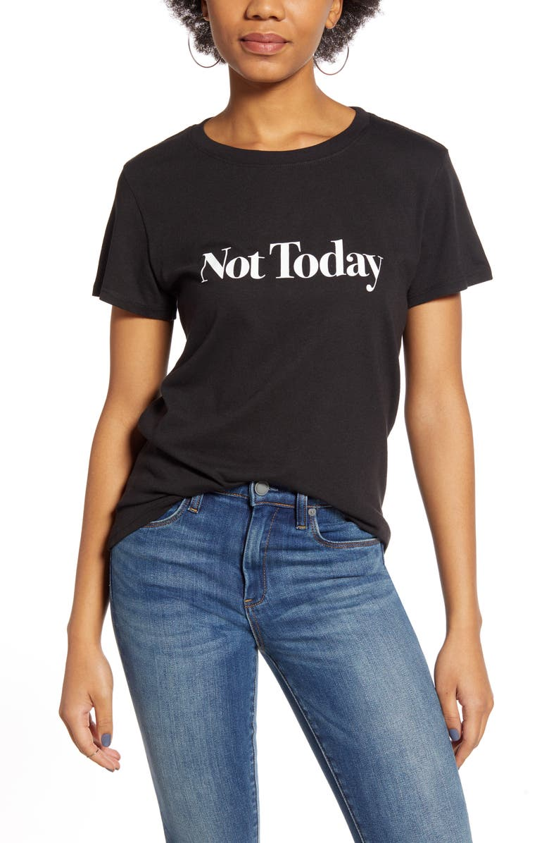 SUB_URBAN RIOT Not Today Loose Tee, Main, color, BLACK