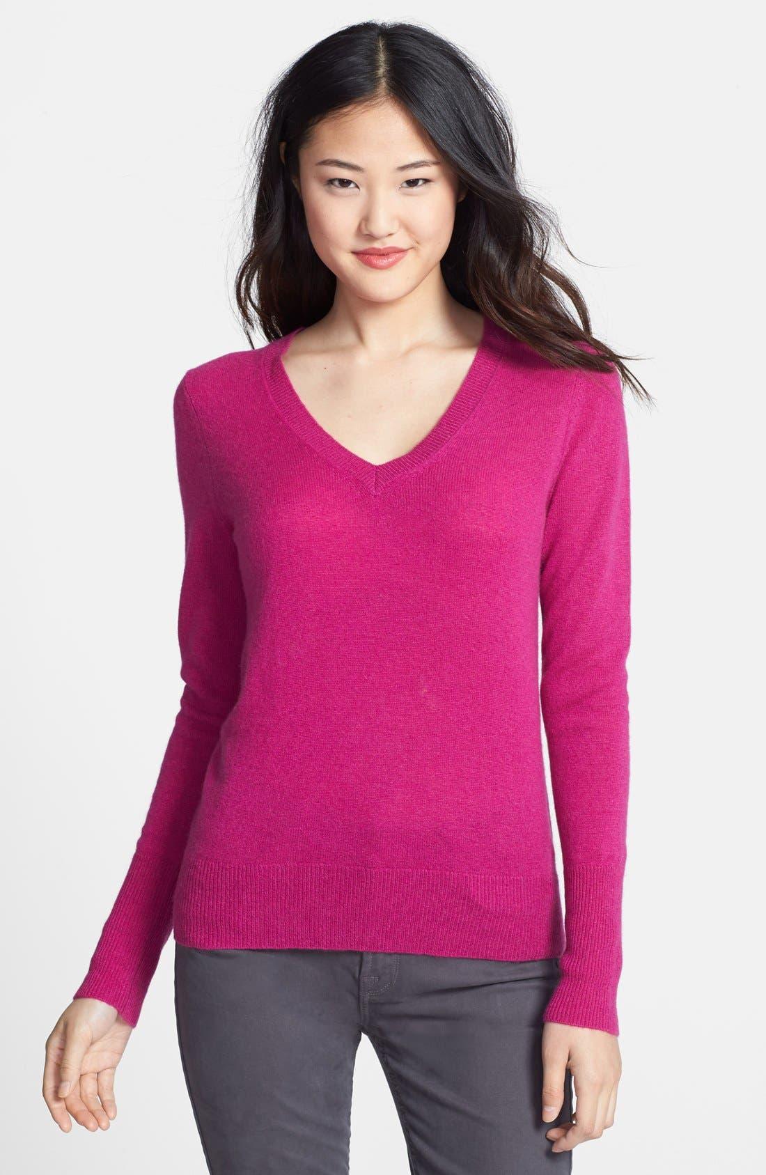 ,                             Cashmere V-Neck Sweater,                             Main thumbnail 79, color,                             652