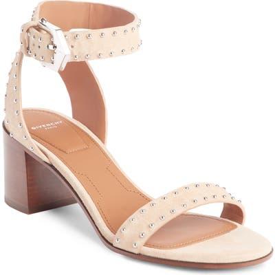 Givenchy Studded Ankle Strap Sandal - Beige