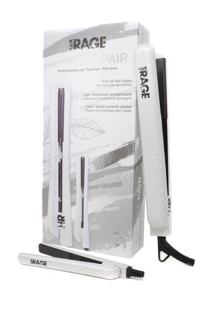 Image of Cortex USA Hair Rage Perfect Pair Flat Iron Set | Full Size + Mini