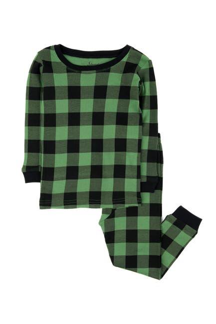 Image of Leveret Check Print Cotton Pajama Set