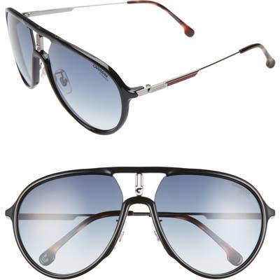 Carrera Eyewear 5m Aviator Sunglasses - Black Ruthenium/ Blue