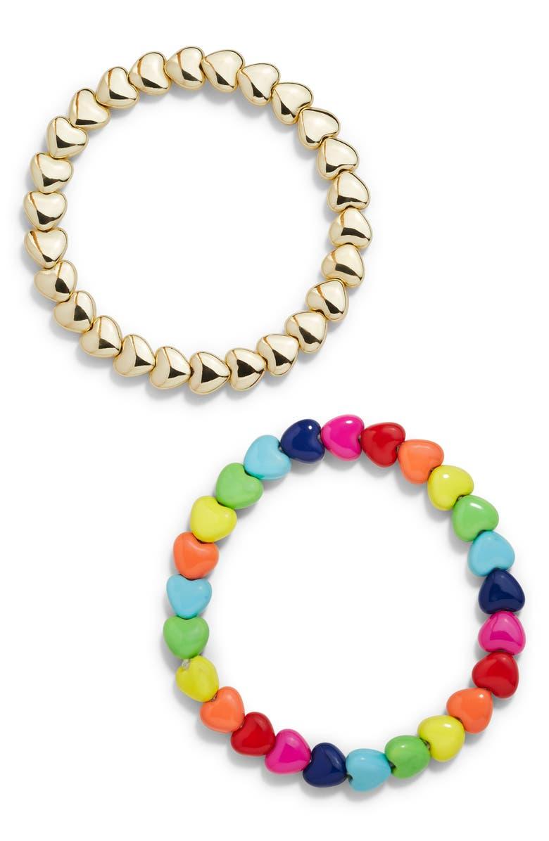 BAUBLEBAR Deliria Set of 2 Beaded Stretch Bracelets, Main, color, 600