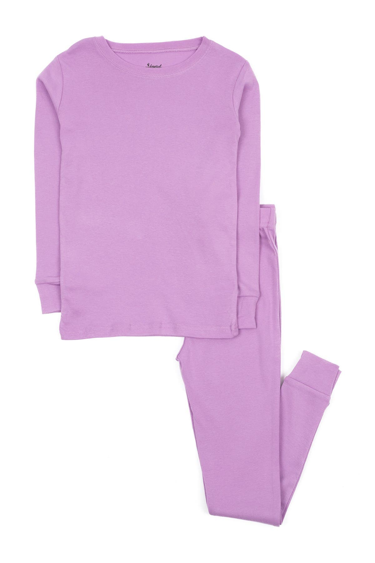 Image of Leveret Purple Two-Piece Cotton Pajamas