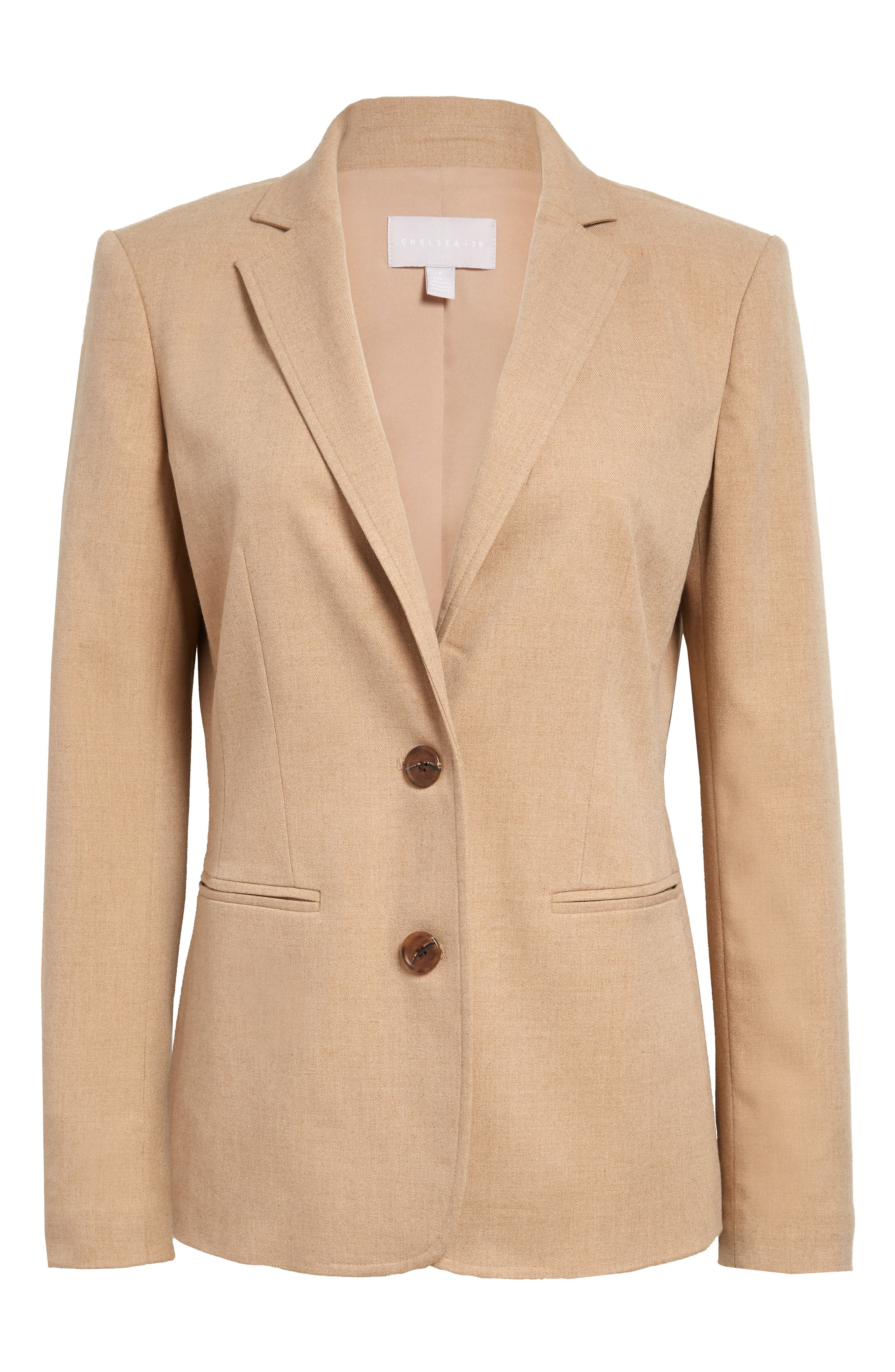 Vintage Coats & Jackets | Retro Coats and Jackets Womens Chelsea28 Twill Blazer Size XX-Large - Brown $129.00 AT vintagedancer.com