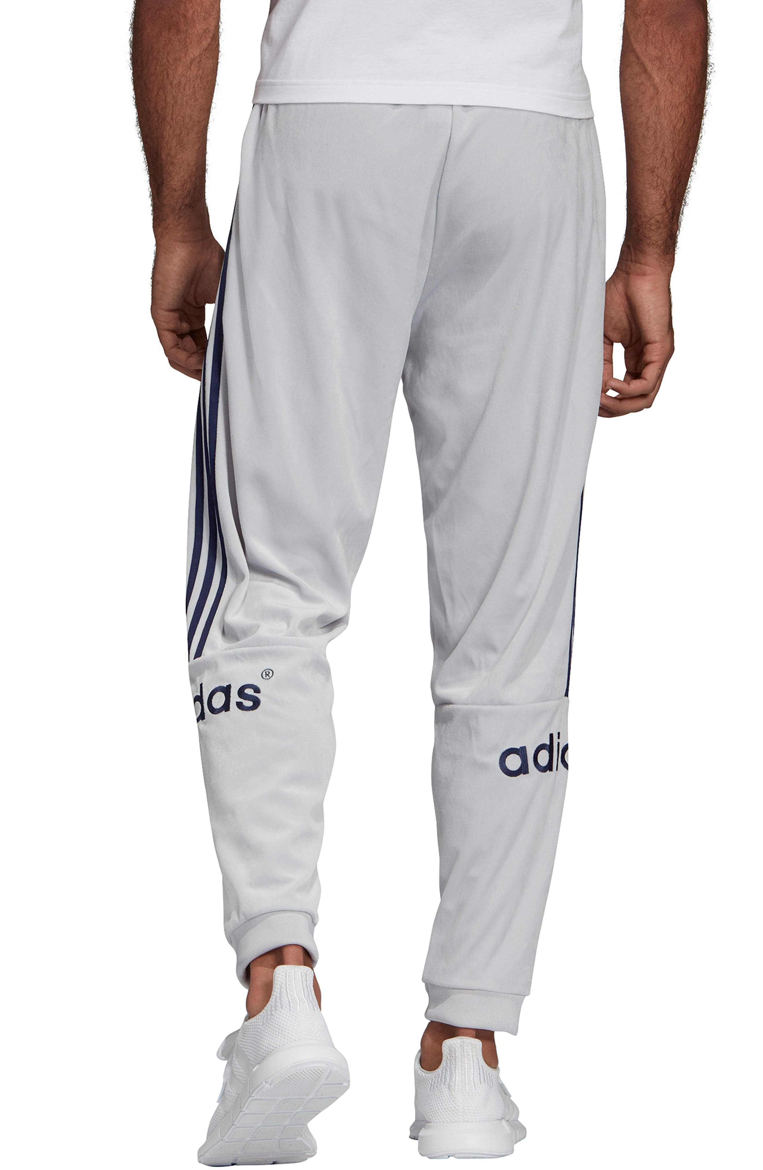 ,                             Arc Velour Track Pants,                             Alternate thumbnail 2, color,                             LIGHT GREY HEATHER/ SOLID GREY