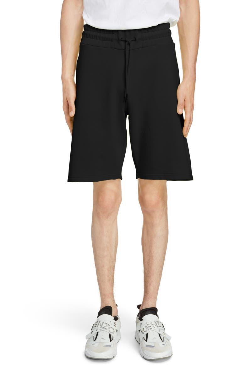 KENZO Logo Print Shorts, Main, color, 001