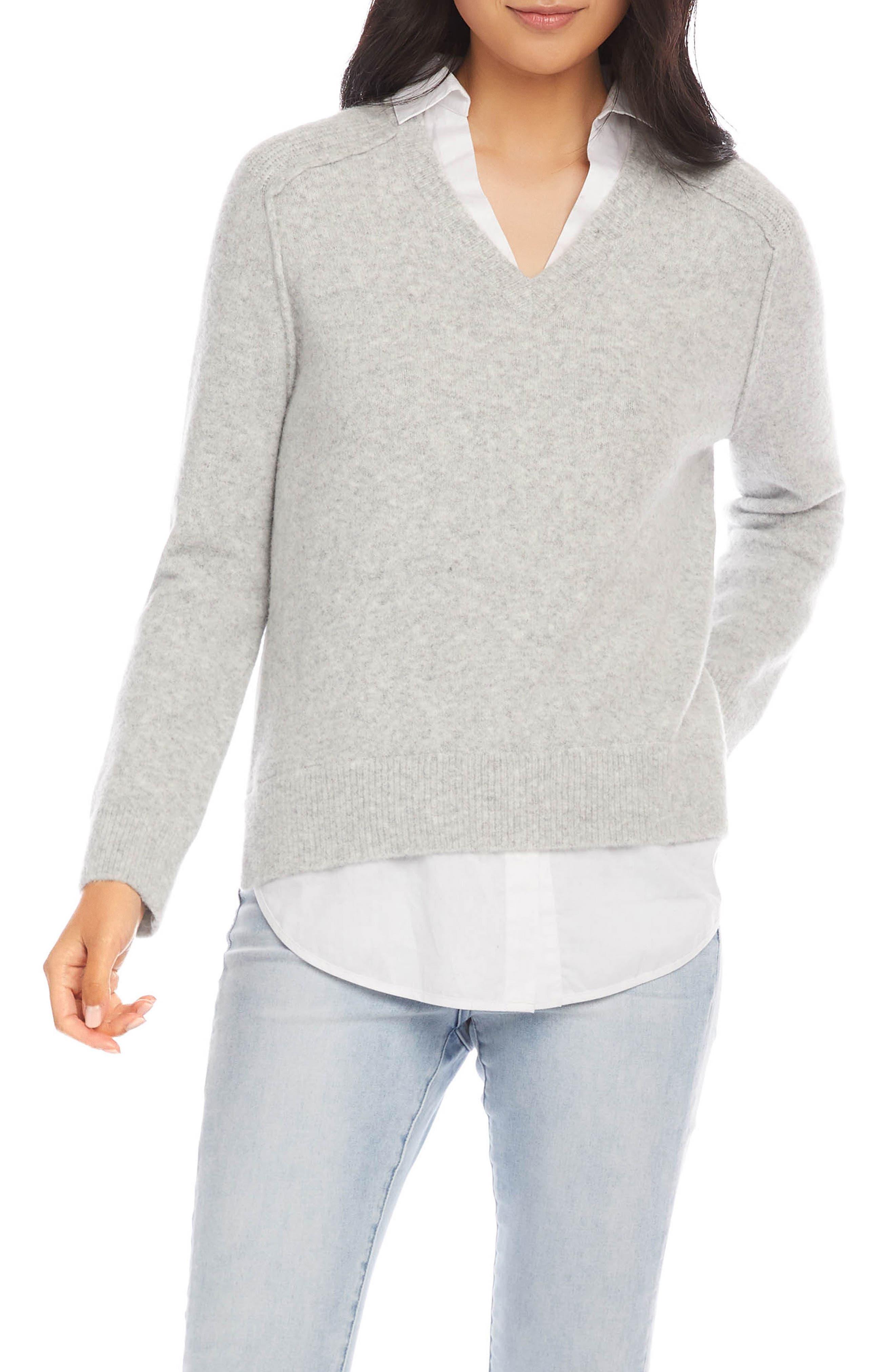 Layered V-Neck Sweater