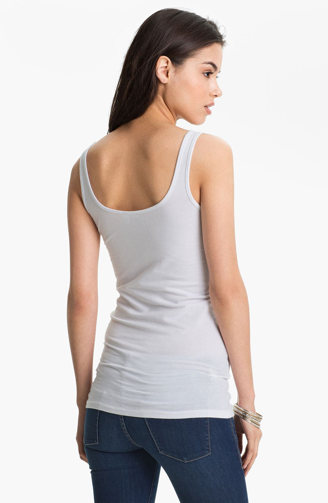 ,                             Double Scoop Neck Tank,                             Alternate thumbnail 73, color,                             100