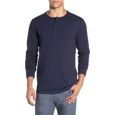 Patagonia Daily Long Sleeve Organic Cotton Henley, Blue