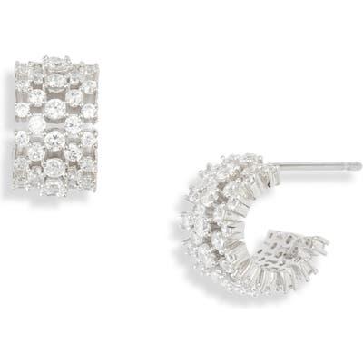 Nadri Mila Half-Hoop Earrings