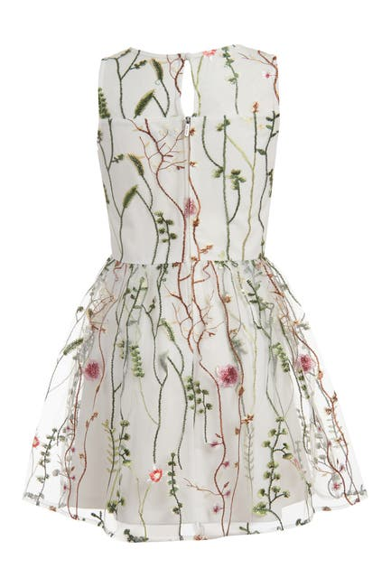 Image of Calvin Klein Mesh Garden Sleeveless Dress