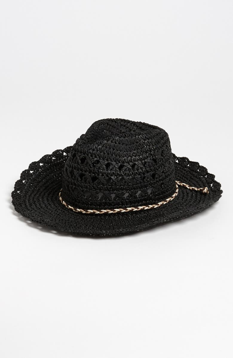 TARNISH Crochet Cowboy Hat, Main, color, 001