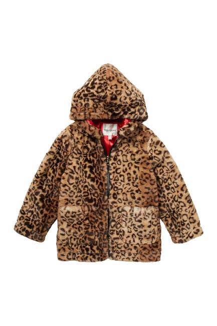 Image of Urban Republic Zip Up Hooded Faux Fur Jacket