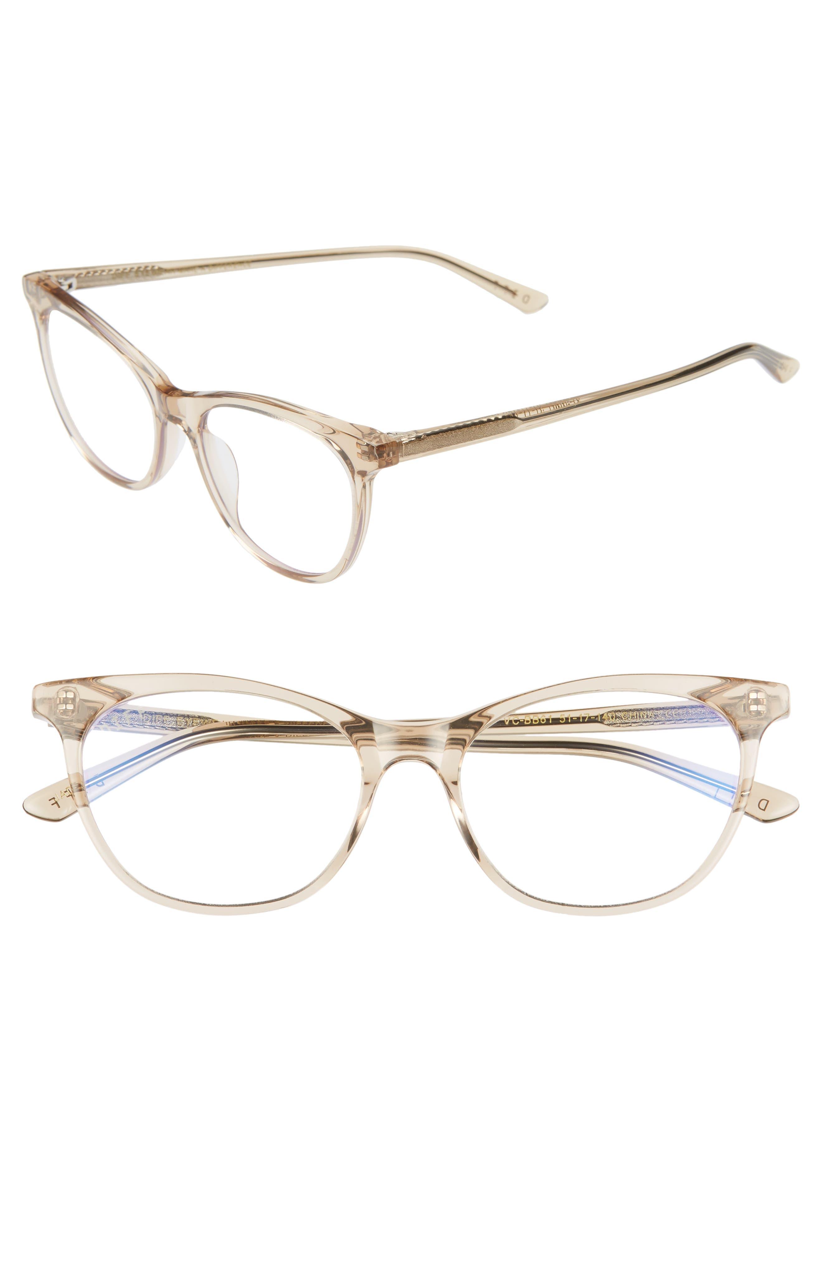 Jade 51mm Blue Light Blocking Cat Eye Glasses