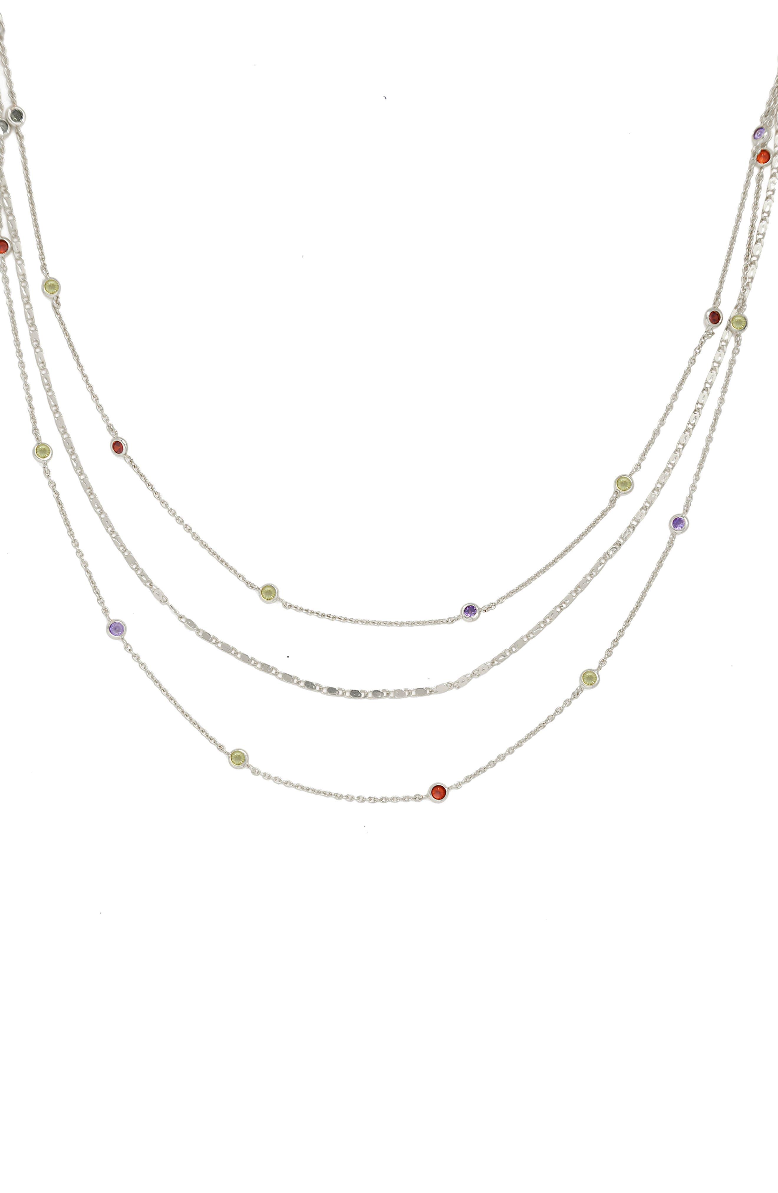 Rainbow Layered Necklace