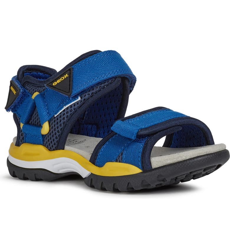 GEOX Borealis 12 Sandal, Main, color, ROYAL/ YELLOW
